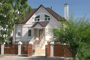 Дом возведенный из кирпича